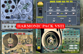 Harmonics Boost pack – BassBooster VST or GuitarBooster VST , TapeHarmonizer VST 1.0, TapeFilter VST, + Analog Techno Kick VSTi 3.0 PRO