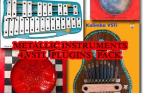 4 Metallic percussion Pack VSTi Glockenspiel VSTi, Kalimba VSTi,Hang VSTi 2.0,Steeldrum VSTi