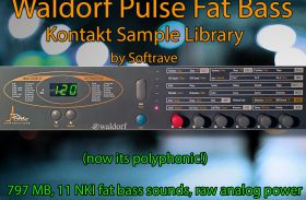 Waldorf Pulse Fat Bass Polyphonic Kontakt Sample Library Instrument