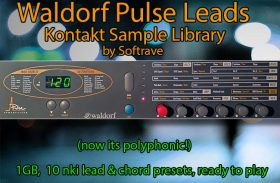Waldorf Pulse Leads and Chords Kontakt Sample Library